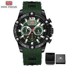 Наручні чоловічі кварцові годинники Mini Focus MF0349G Green-Black, фото 3