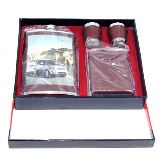 Сувенирный набор 4 предмета 1фляга +2рюмки +1чехол д/сигар10 видов фото машин