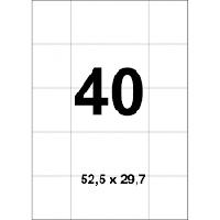 Набор этикеток самоклеящихся А4 на листе 40 шт (52,5х29,7), фото 1