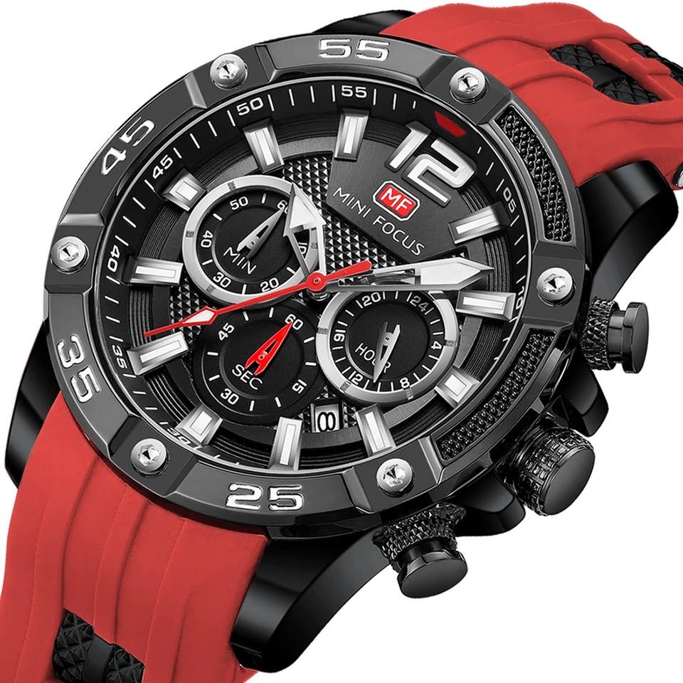 Наручные кварцевые мужские часы Mini Focus MF0349G Red-Black