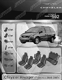 Авточехлы Chrysler Voyager 2000-2007 (7 мест) EMC Elegant