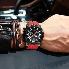 Наручные кварцевые мужские часы Mini Focus MF0349G Red-Black, фото 3