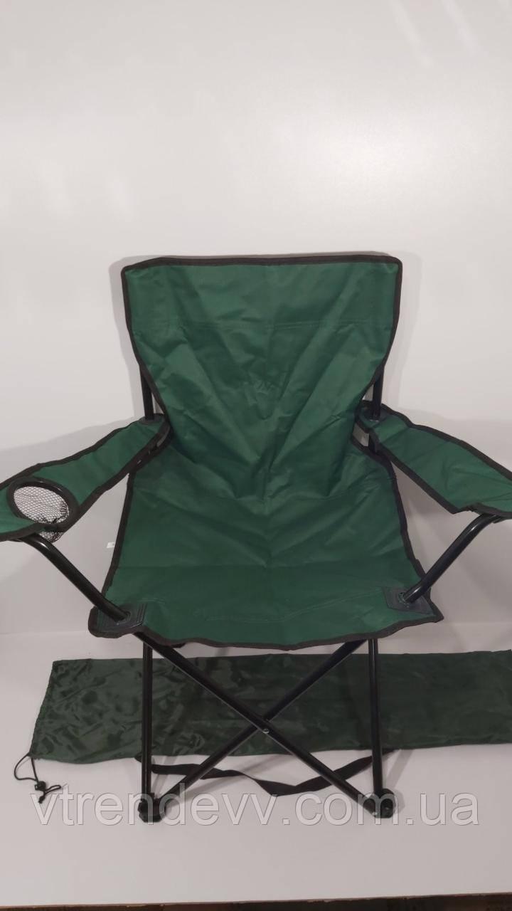 Кресло раскладное Паук с подстаканником EL2705 Зеленое  50*50*85