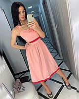 Платье женское 487 (42-44, 44-46) (цвета: белый, пудра, красный) СП, фото 1