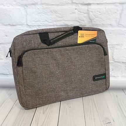 """Сумка для ноутбука SB -139 Brown темно-серий размер 15,6"""", фото 2"""