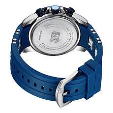 Наручні чоловічі кварцові годинники Mini Focus MF0349G Blue-Silver, фото 2