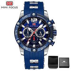 Наручні чоловічі кварцові годинники Mini Focus MF0349G Blue-Rose-Gold, фото 2