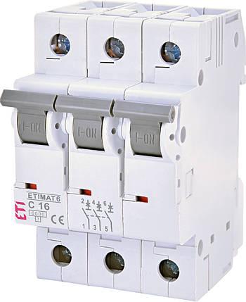 Автоматический выключатель 3p C 16А  ETIMAT 6 kA, ETI, фото 2