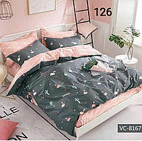 Комплект постельного белья евро размер (фламинго)