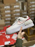 ✔️ Кроссовки женские Nike Air Force 1 Low White Shadow Phantom - Найк Аир Форс Бежевые Низкие