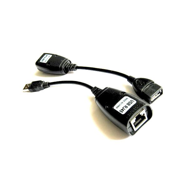 USB удлинитель по RJ45 витой паре до 50м комплект