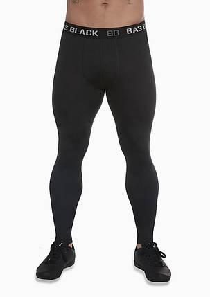 Мужские тайтсы BasBlack Evergym (original), спортивные лосины для бега, фитнеса, спортзала, фото 2