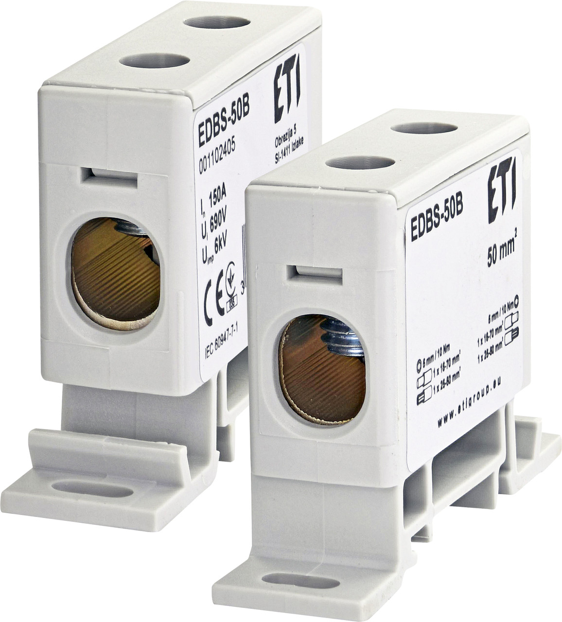 Блок распределительный EDBS-50B 150А, 16-70 mm2 ETI
