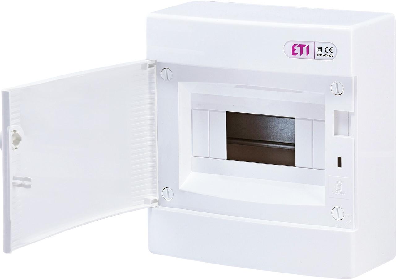 Щит наружный распределительный ECT 8PO 8 модулей белые дверки ETI