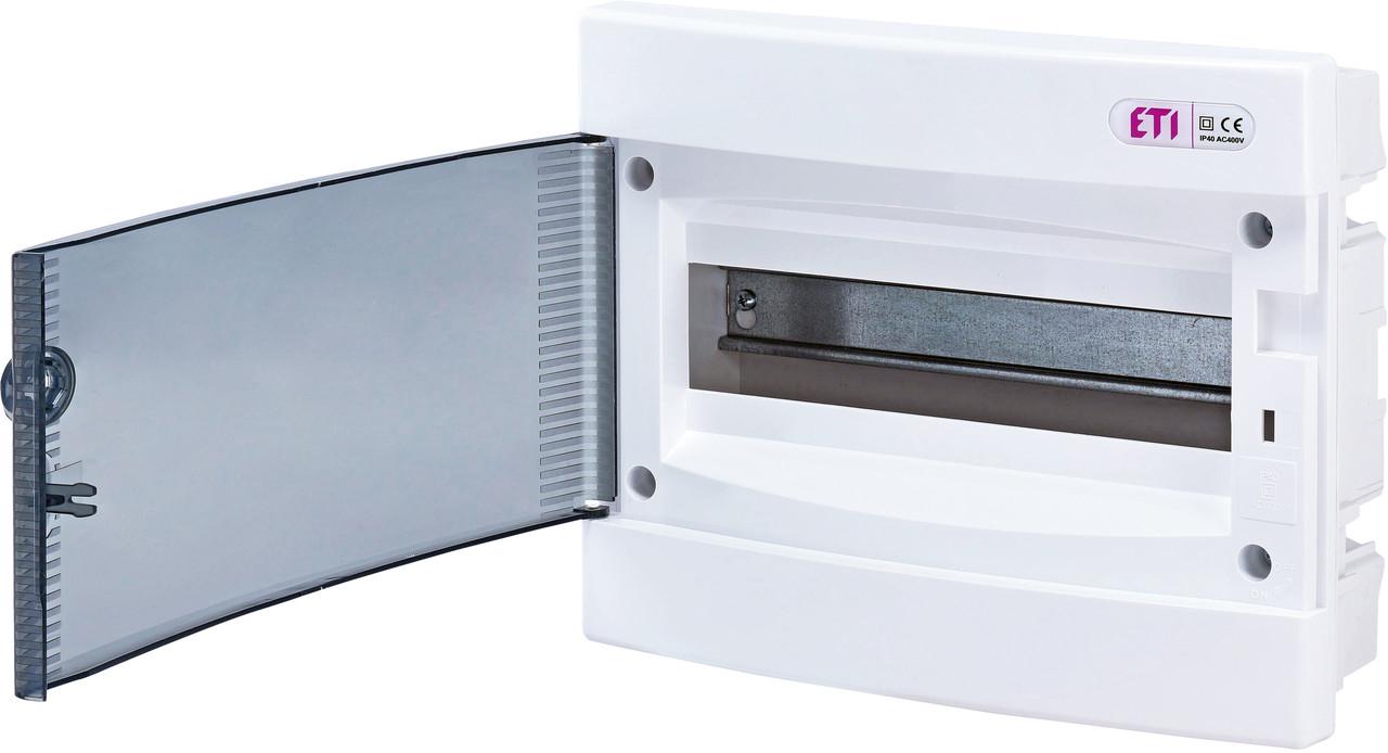 Щит встроенный распределительный ECМ 12PT 12 модулей прозрачне дверки ETI