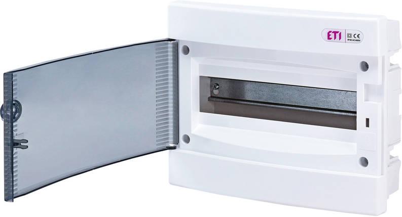 Щит встроенный распределительный ECМ 12PT 12 модулей прозрачне дверки ETI, фото 2