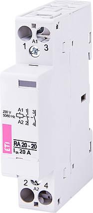 Контактор модульный RA 20-20 230V AC ETI, фото 2