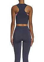 Спортивный женский топ BasBlack Teamtop 30 (original) короткий, майка для бега, фитнеса, спортзала, фото 3