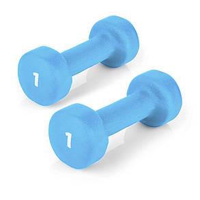 Гантели для фитнеса 2х1 кг Spokey SHAPE IV 920894 (original) виниловое покрытие, фото 2