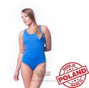 Купальник женский закрытый Shepa 001 слитный,цельный, без чашек (чашечек) спортивный для бассейна, фото 2