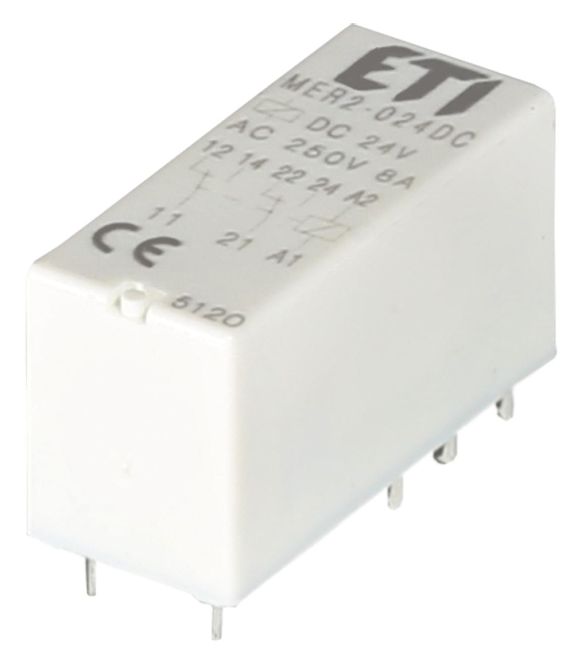 Реле электромеханическое миниатюрное MER2-024 DC 2p ETI
