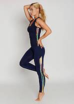 Спортивные женские легинсы BasBlack Cosmic blue (original), лосины для бега, фитнеса, спортзала, фото 3