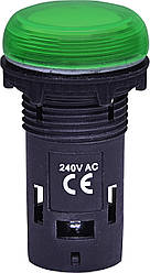 Лампа сигнальная LED матовая ECLI-240A-G 240V AC (зеленая) ETI