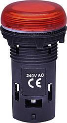 Лампа сигнальная LED матовая ECLI-240A-R 240V AC (красная) ETI