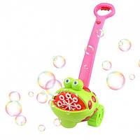 Детская музыкальная светящаяся каталка с мыльными пузырями Лягушка Metr+FH 775
