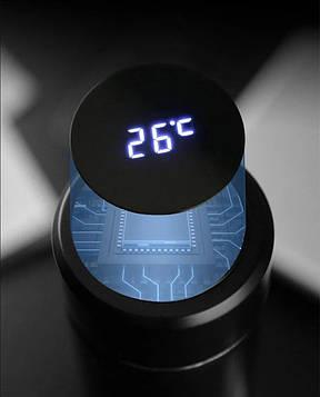 Термос из нержавеющей стали с интеллектуальным экраном 480 мл Черный, фото 2