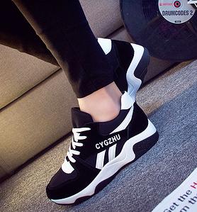 Кроссовки женские Air Черные с белым