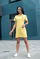 Однотонное платье поло ЛЧ 025D/04