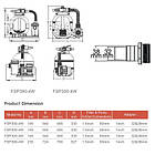 Emaux Фильтрационная установка Emaux FSP300-ST20 (3 м3/ч, D300), фото 3