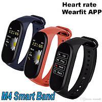 Фитнес трекер, браслет WearFit M4 Аналог Xiaomi Mi Band 4 Измерение давления
