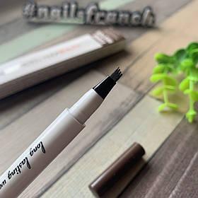 Карандаш-маркер для бровей с эффектом микроблейдинга коричневый