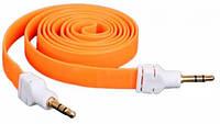 AUX кабель 3.5mm M/M плоский 2m Оранжевый