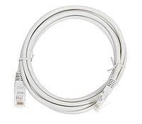 Патч-корд витая пара LAN кабель для интернета 3м Серый