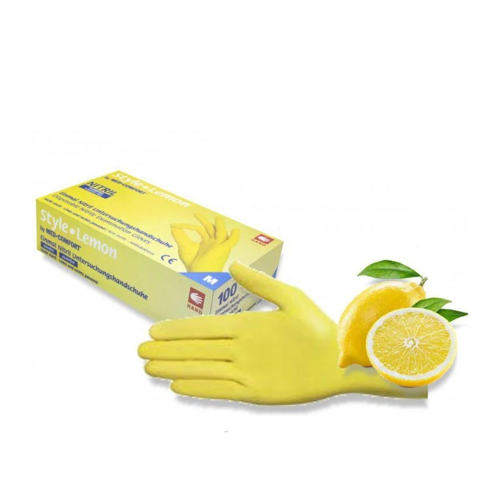 Перчатки Style Lemon нитриловые смотровые нестерильные неприпудренные р.XS