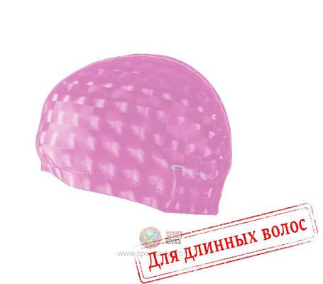 Шапочка для плавания лайкра Spokey Torpedo 3D 837549 (original) для бассейна, для длинных волос, полиуретан, фото 2