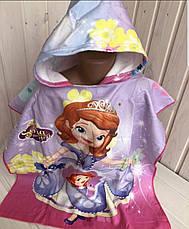 Детское пляжное полотенце пончо с капюшоном Губка Боб 2020, фото 3