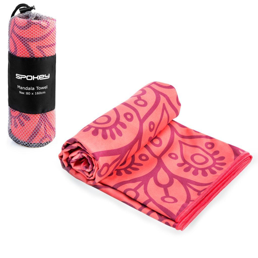 Охлаждающее пляжное/спортивное полотенце Spokey Mandala 80х160 926047, для спортзала, быстросохнущее