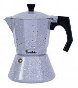 Кофеварка гейзерная Con Brio CB-6709 450 мл Алюминий