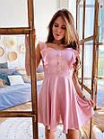 Жіноче ніжне лляне літнє плаття/сарафан з рюшами (в кольорах), фото 5
