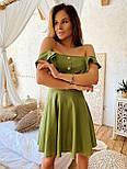 Жіноче ніжне лляне літнє плаття/сарафан з рюшами (в кольорах), фото 10