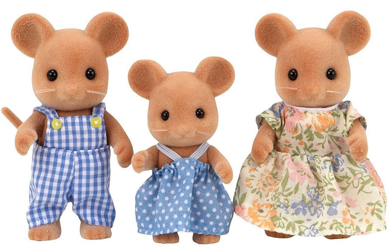 Sylvanian families 5128 Epoch Cім'я мишок  Семья мышек Mouse Family Toy Epoch