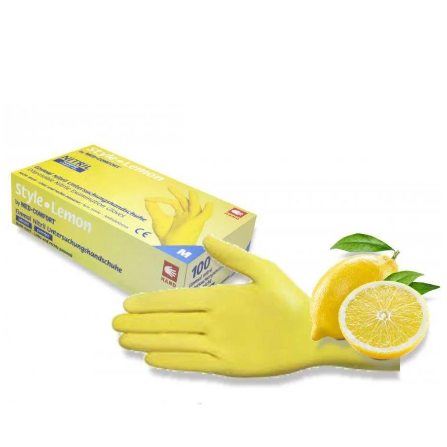 Перчатки Style Lemon нитриловые смотровые нестерильные неприпудренные р.L