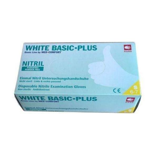 Перчатки White Basic Plus нитриловые смотровые нестерильные неприпудренные р.L