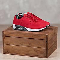 Кроссовки мужские демисезонные текстильные яркие красные кросовки с белой подошвой