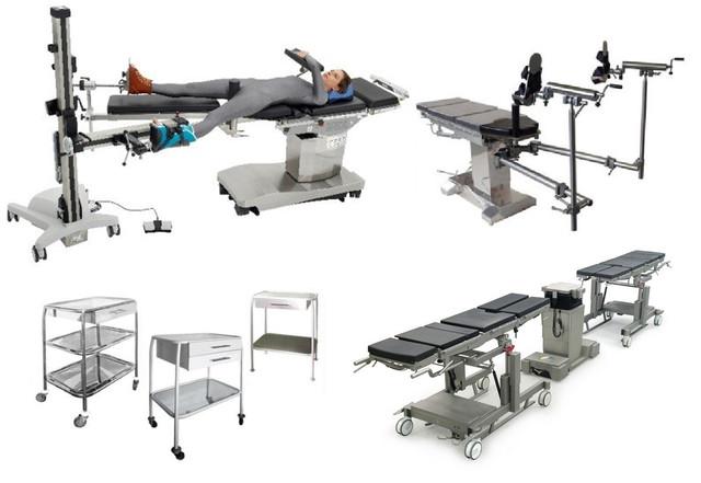 Столы медицинские и операционные, тележки и каталки