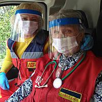 Медицинский защитный экран - маска для лица. Щиток для защиты органов дыхания от вирусов
